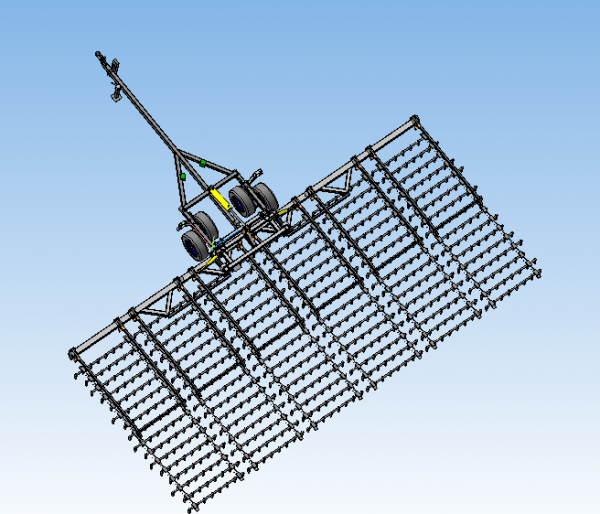 Напівпричіпна шлейф-борона БШН-11 «Соломія»