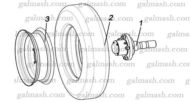 Wheel assembly for Chisel plow АChN – 3 «Khoma»