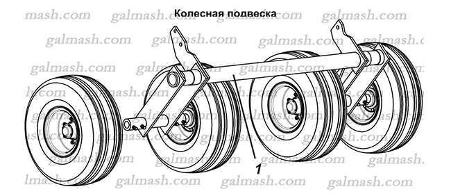 Колесная подвеска для борон БГР Солоха
