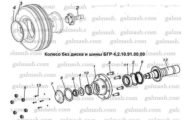 Колесо без диска и шины для дисковых борон БГР Солоха
