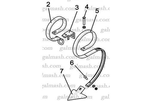 Стойка в сборе с лапой (Н 043.06.30) к культиватору ККП- 6,0 «Кардинал»