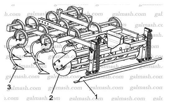 Секція робочих органів передня (ККП-6.50.00.00.00) до культиватора ККП- 6,0 «Кардинал»