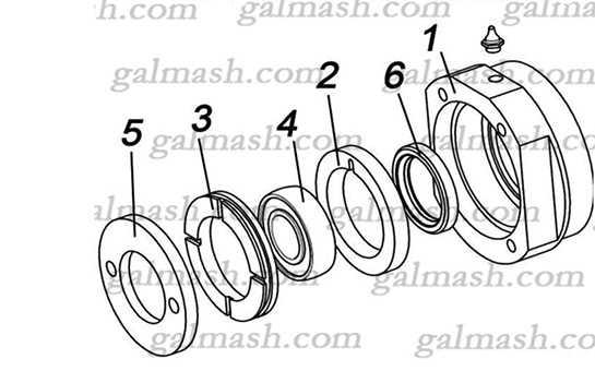 Підшипниковий вузол ковзанки (корпус в зборі ККП-6.50.10.10.02) до культиватора ККП- 6,0 «Кардинал»